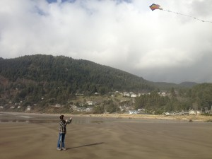 Kite Flying Fun! Dani successfully tamed the flying fish for about 2 minutes…maybe...