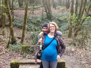 7-mile Forest Park Hike at 25 weeks, 4 days