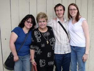 Nikki, Grandma Dee, Zakk, Kristin - April 20, 2005