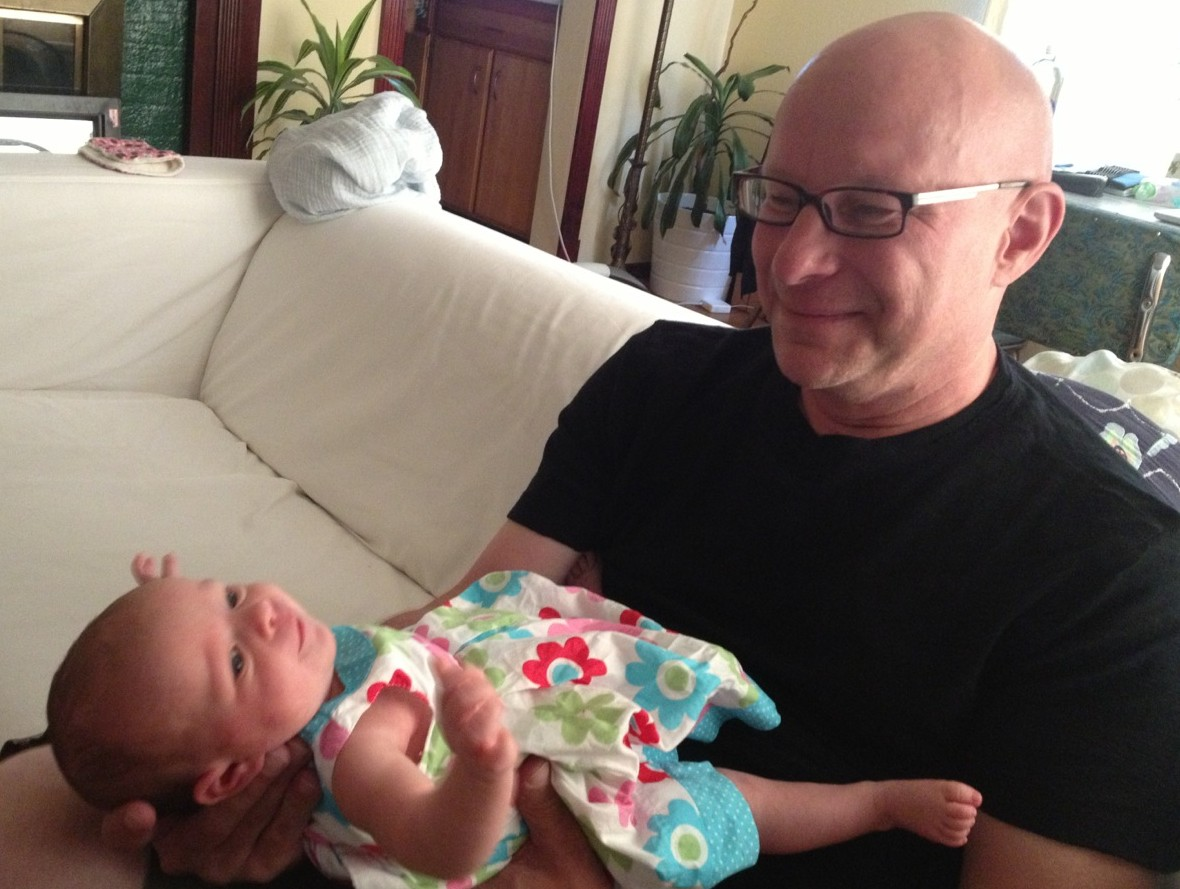 Colette hanging out with Grandpa