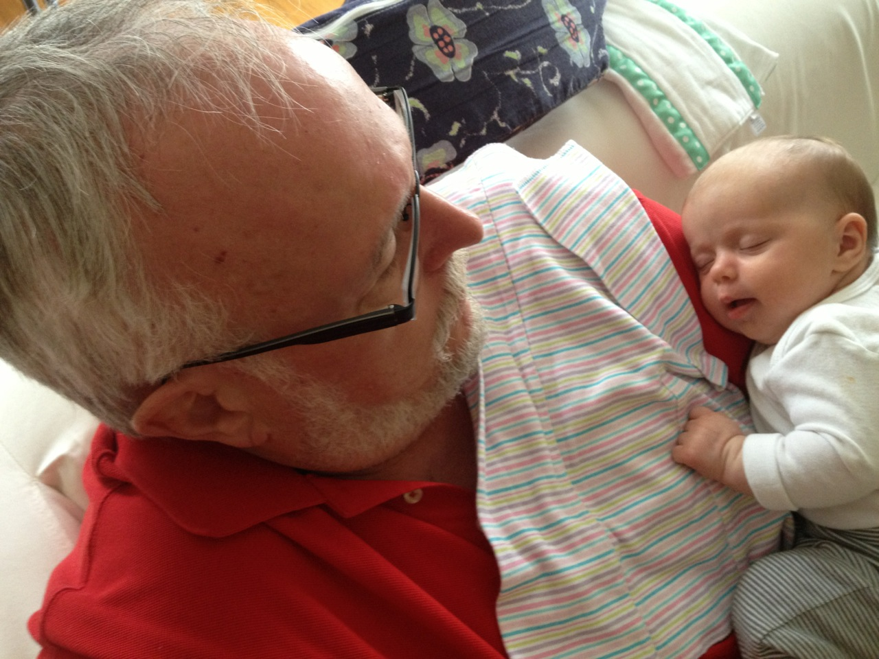 Colette gets cozy with Papaw