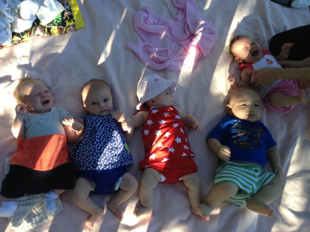 L-R: Emmett, Peri, Colette, Elio, Anastasia
