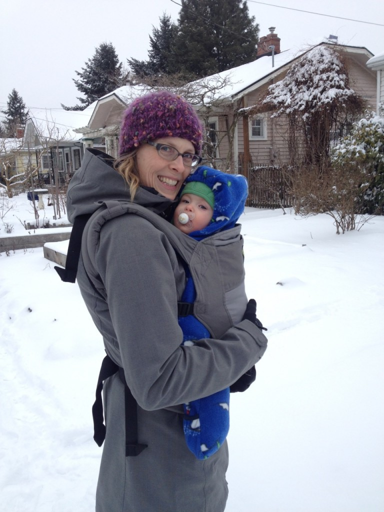 Out for a snowy walk to the grocery store