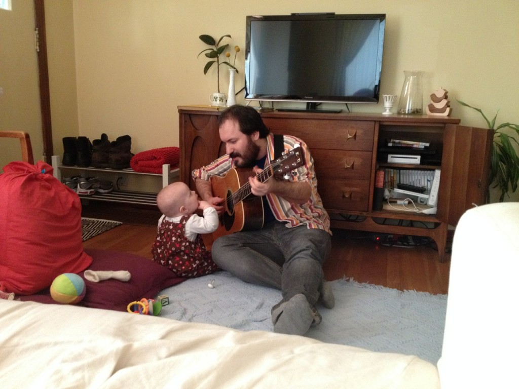 Colette and Daddy on Guitar-1