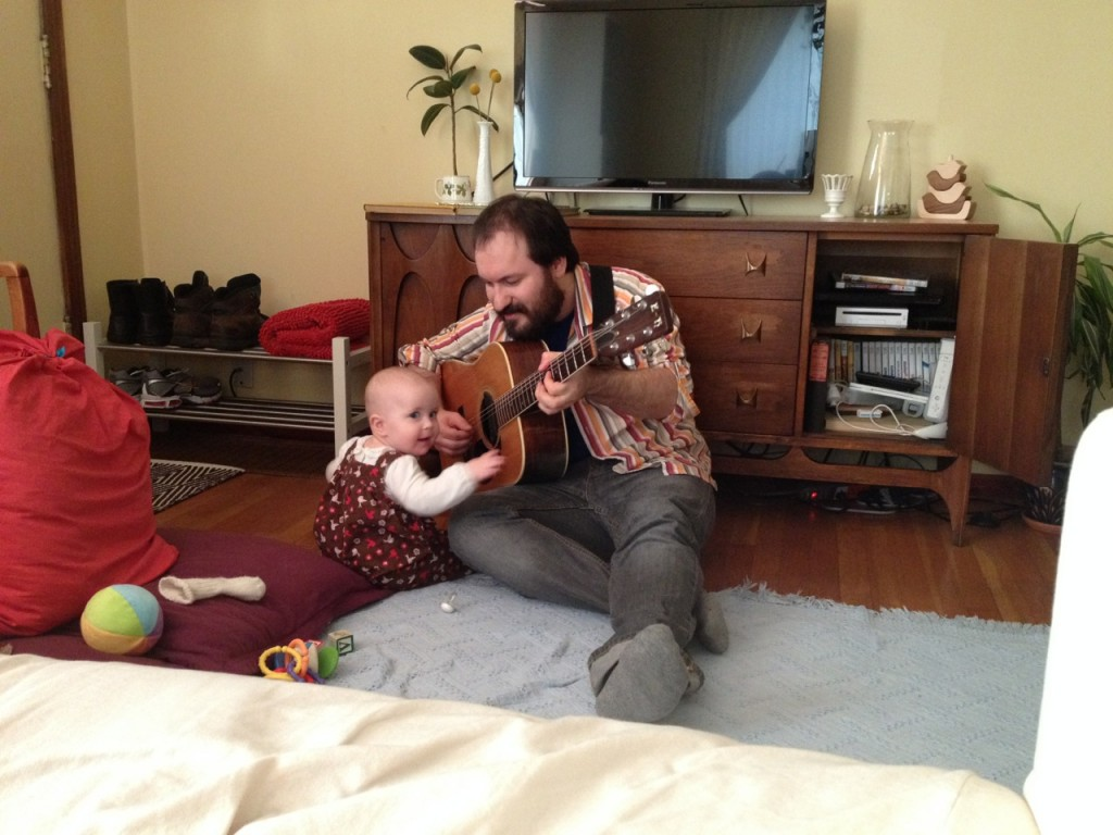 Colette and Daddy on Guitar-2