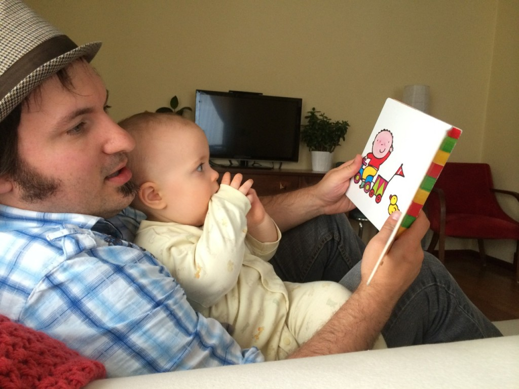 Daddy Reading to Rocket