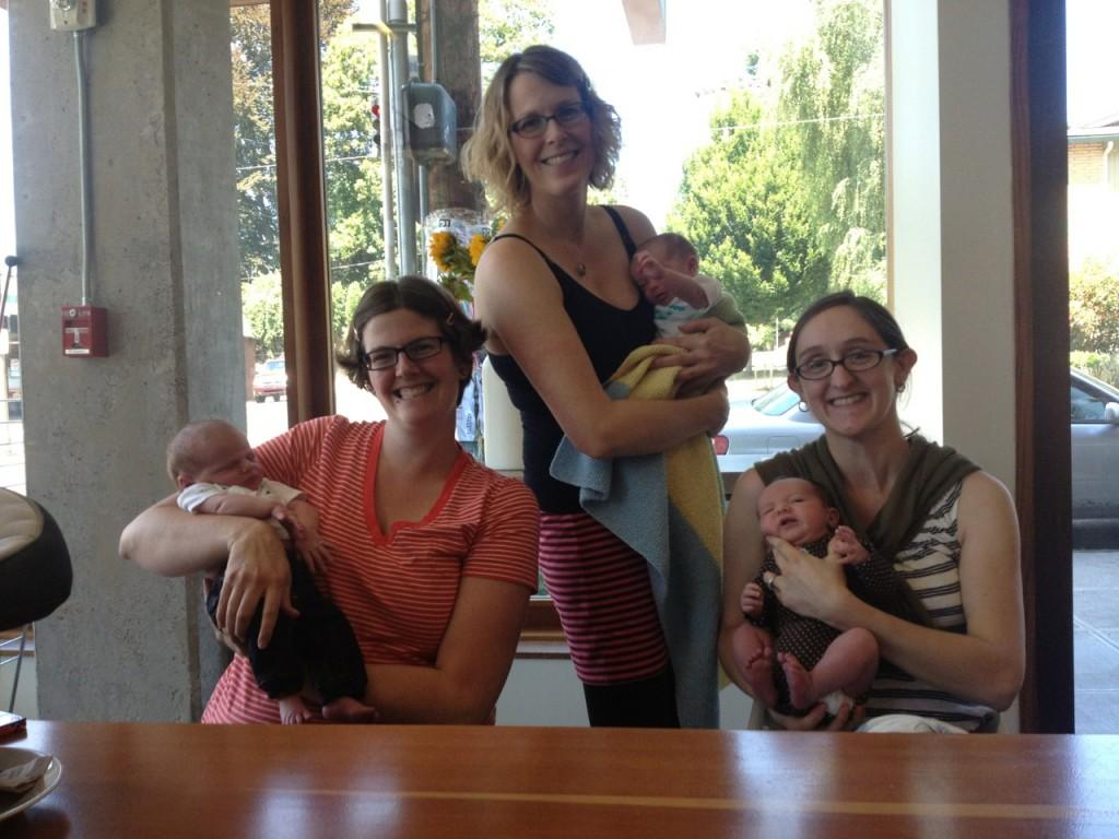 L-R: Morgan & Peri, Kristin & Colette, Katie & Anastasia
